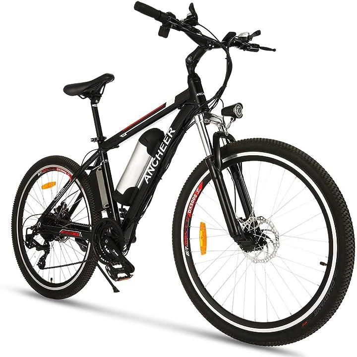 Bicicletta elettrica 26 pollici batteria 36v 8ah / 10ah 21 velocità 34n motore 250w doppio disco freno B08TBGR1VH