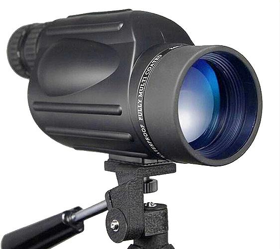 JSX Télescope monoculaire 10-30X50 HD Zoom monoculaire pour l'observation des Oiseaux Télescope Nitro étanche Antichoc télescope avec trépied