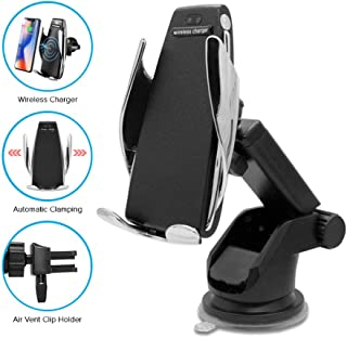 Wemake Car Mobile Holder for Dashboard & AC Vent, IR Sensor Automatic Clamping 10W Fast Charging Car Wireless Charger Holder for iPhone 11/Max/Xs Max/XR/X/8/8Plus Samsung S10/S9/S8/Note 8/9/10
