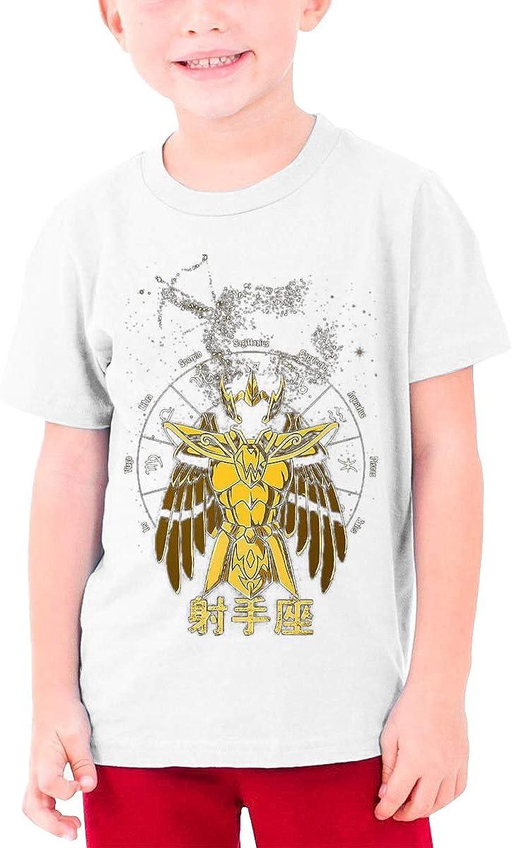 Saint Seiya Shooter Constellation.jpg Boy's Girl's Cotton Short Sleeve Tee Teenager Unisex Top White