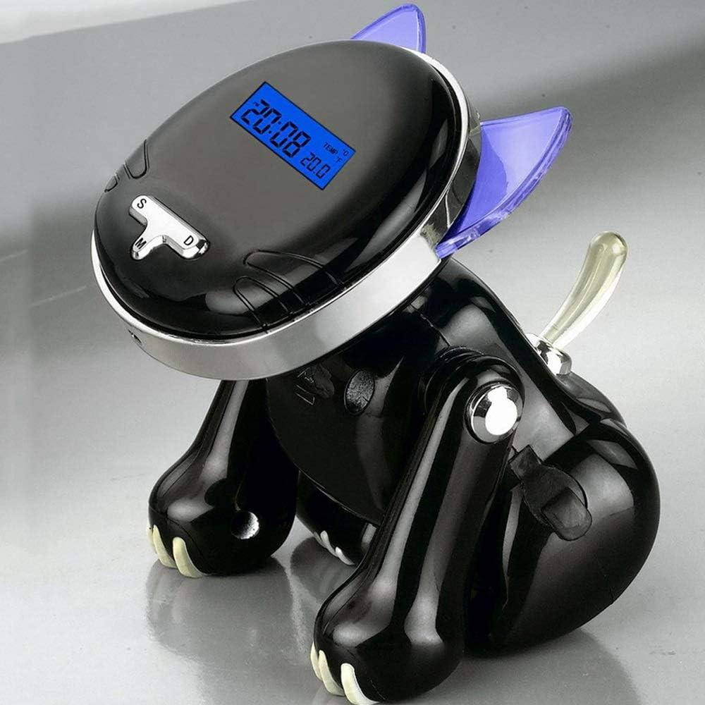weichuang Wekker 12/24 Uur digitale slimme wekkers voor slaapkamers met batterijback-up, Kind Zoals Leuke Kat Voice Talking Desk Horloge voor Blind Wekker (Kleur: Zwart) Zwart