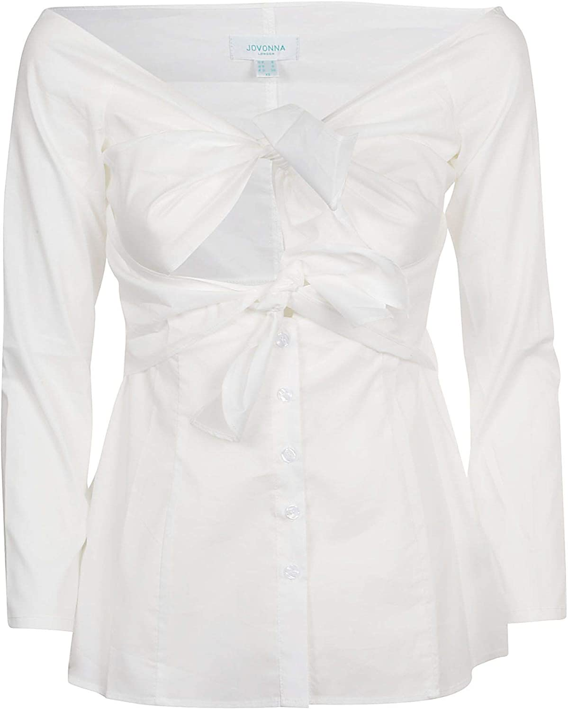 Jovonna London Women's 350ARKETWHITE White Cotton Blouse