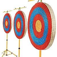 SHARROW 50cm アーチェリーソリッドストローターゲット 1~4層 アーチェリーターゲット ストロー編組アーチェリーターゲット 射撃用紙 目標紙 弓矢用 アーチェリーアクセサリー (2層)