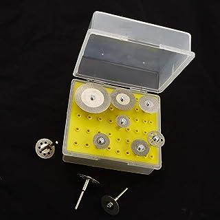 YUQIYU 10st Skär Diamond Saw Cut Off skivor Wheel Blades Rotary Verktygssats med skaft (Color : Handle 3mm)