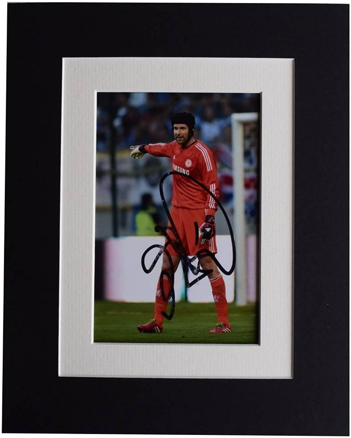 Sportagraphs Petr Cech Signed Autograph 10x8 photo display Chelsea Football AFTAL & COA