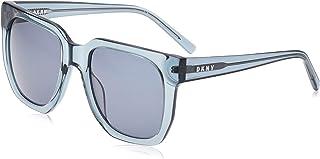 نظارات شمسية سيتي نيتيف للنساء من دي كيه ان واي بتصميم مربع بلون ازرق كاديت كريستالي