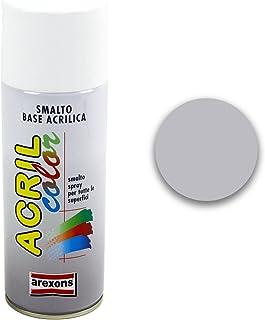 arexons–esmalte Acrílico Spray, paquete: 400ML, gris, RAL 9006 - alluminio