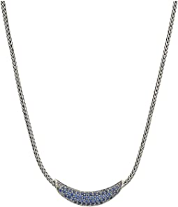 Classic Chain Arch Necklace with Blue Sapphire