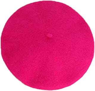 b819806fe42 Clothink Women Or Men 100% Wool Solid Berets French Beret