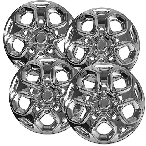 Motorup America Auto Hubcap Set of 4, 17 inch Snap On Wheel Covers - Fits 10-12 Ford Fusion