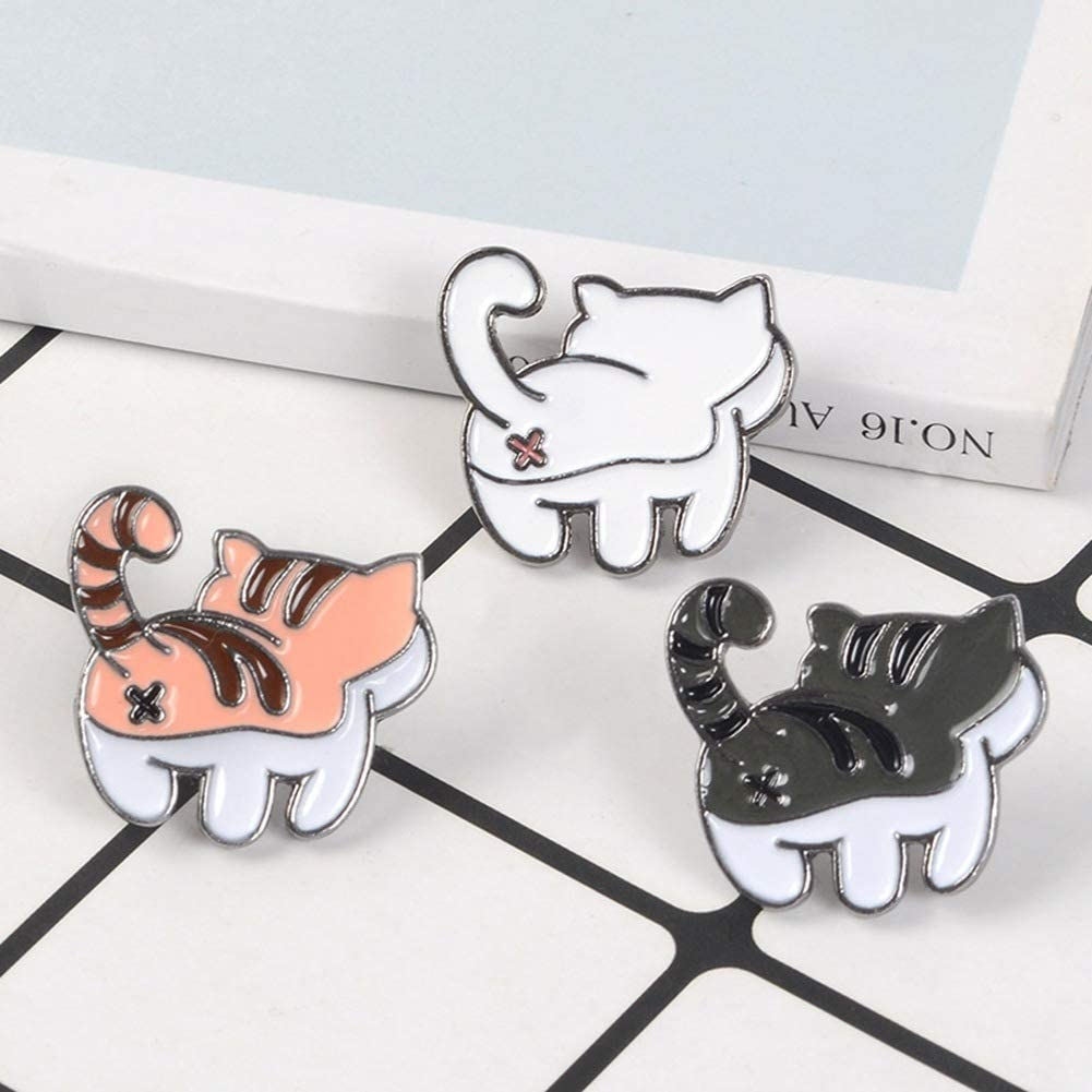 Elibeauty Pin de gatito con esmalte de gatito Kawaii con dise/ño de gatito