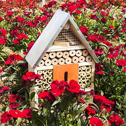 Funpeny木制昆虫房,昆虫酒店为蝴蝶,蜜蜂和瓢虫(大)