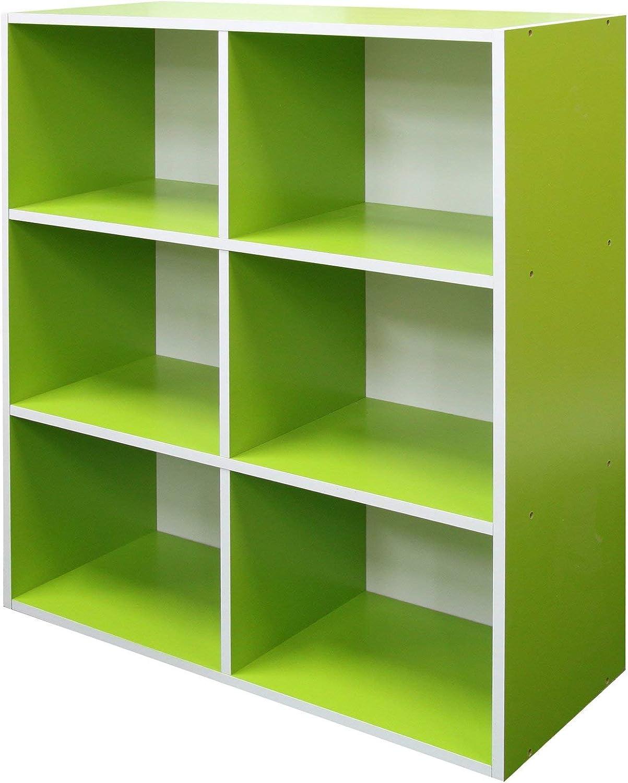 Absolute Deal 3-tier libreria crossoenza cassettiera, legno, verde, 80 x 30 x 90 cm