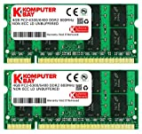 Komputerbay KB_8GB_2X4GB_PC2_6400_800_SODIMM - Memoria SODIMM para portátiles 8GB (2x4GB) DDR2, 800MHz, PC2-6300/PC2-6400, DDR2 800 (200 pines)