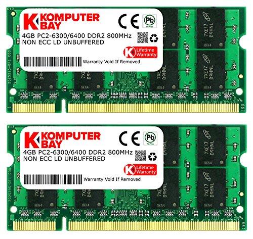 Komputerbay SODIMM Arbeitsspeicher 8GB (800MHz, 200-polig, 2x 4GB) DDR2-RAM Kit