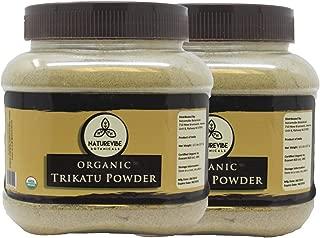 Organic Trikatu Powder (1lbs) (2 Pack of 8oz each) - Piper Longum + Piper Nigrum + Zingiber Officinale | Improves Digestion and Immunity