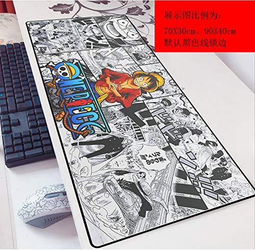 Alfombrilla de ratón One Piece 900X400Mm Alfombrilla de ratón, Extendida XXL Grande, Alfombrilla de ratón Profesional para Juegos con Fondo Grueso de 3 mm, para PC-UNA_300x800mm