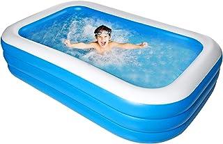 Bilisder Piscina Hinchable Familiar para Niños, Adultos, al Aire Libre, Fiesta de Verano en el Agua 305x 185x 60cm