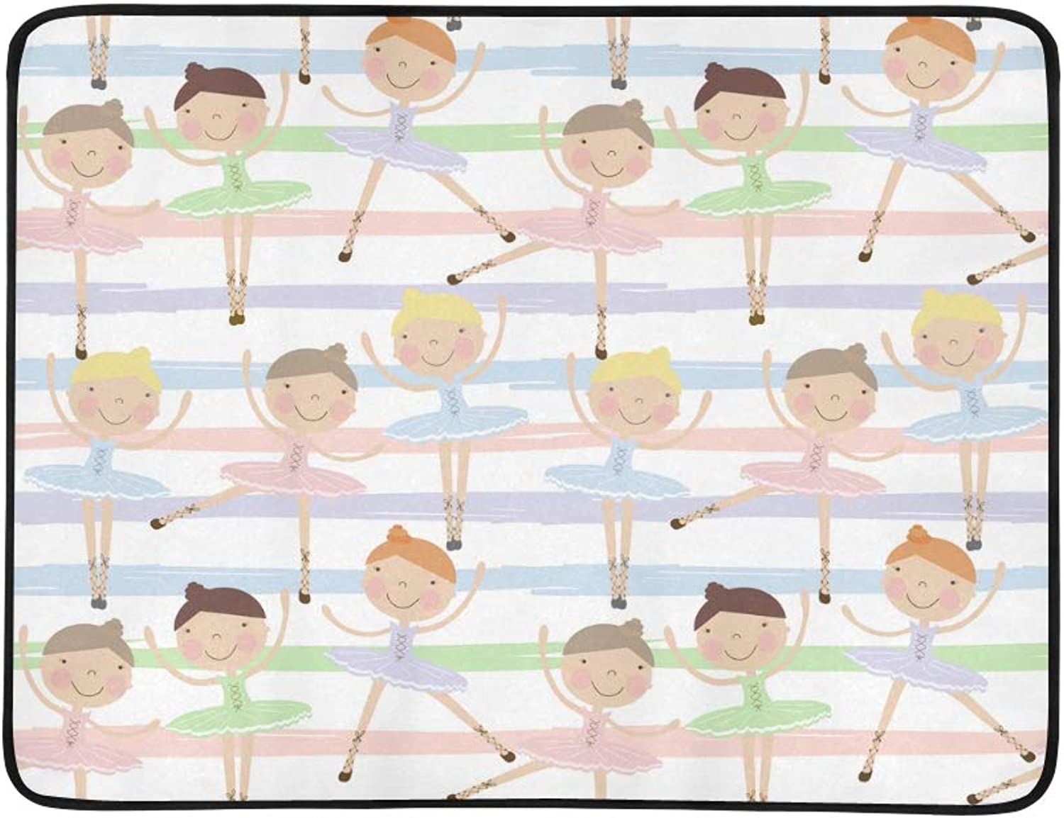 43064fd80888 Wearing A Ballet shoes and Crown Pattern Portable and Foldable Mat 60x78  Inch Handy Mat for Camping Picnic Beach Indoor Outdoor Travel Skirt, ...