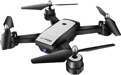 WOSOSYEYO X34F Professionelle Optical Flow Doppelobjektiv UAV Fernbedienung Quadcopter Kamera WiFi Kampfflugzeug Drone (Weiß)