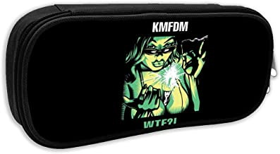 KMFDM WTF Pencil Case Cosmetic Makeup Pouch Coin Bag Durable Students Stationery Pen Bag