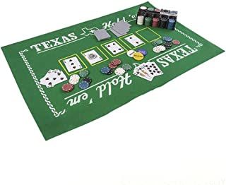 Kicko Texas Hold'Em Poker Set - All-in-One Indoor and Outdoor Gambling Board Game for Kids - Perfect for Blackjack Tournament, Casino Royale themed Party, Event Supply, and Bag Stuffers