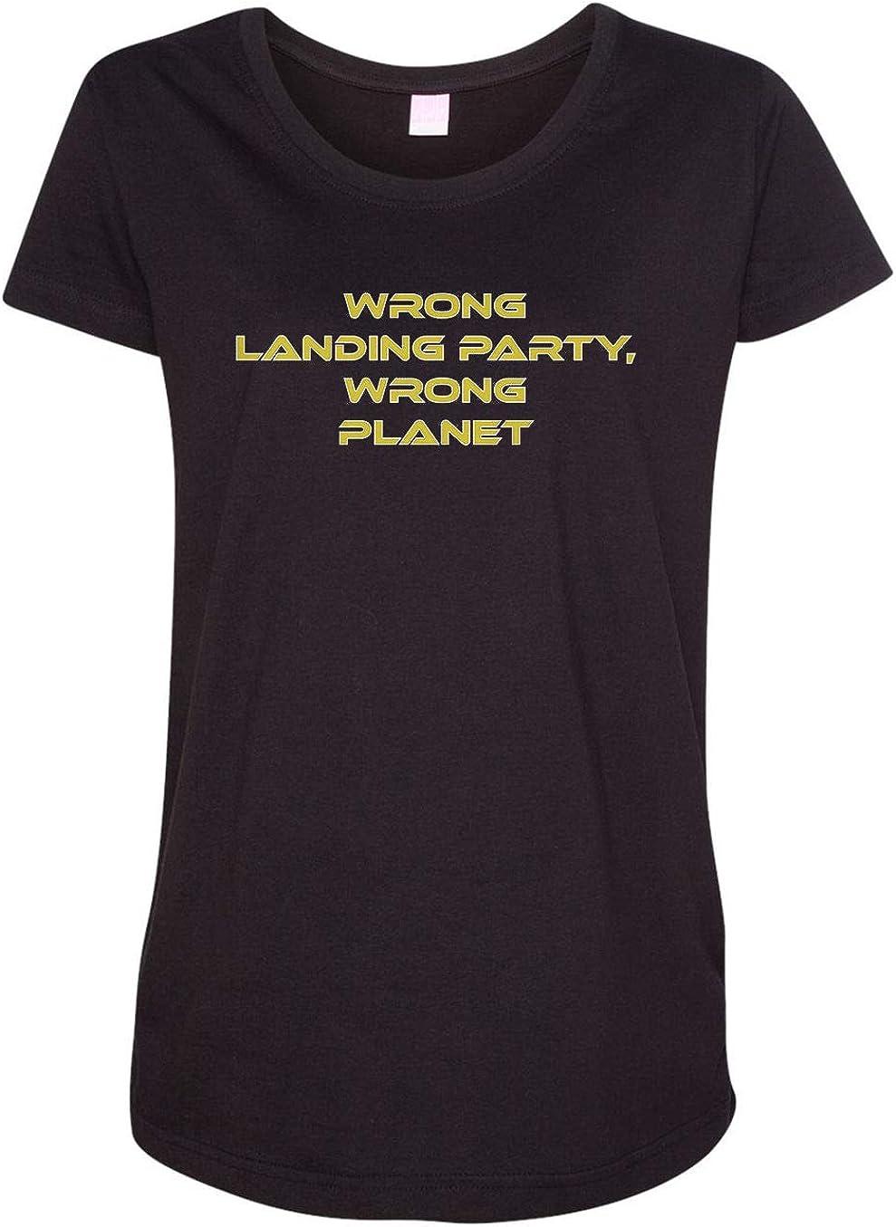 HARD EDGE DESIGN Women's Wrong Landing Party Wrong Planet T-Shirt