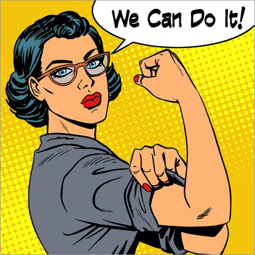 Posterlounge Lienzo 40 x 40 cm: We Can do it! Editors