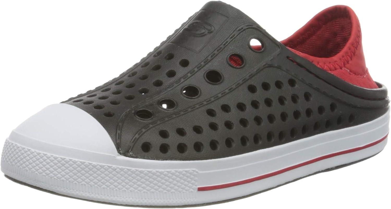 Skechers Boy's Foamies Guzman Steps-Aqua Surge Sneaker, Black/Red, 3 Little Kid