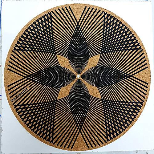 Tazstudio - Alfombrilla para tocadiscos (corcho), diseño especial ...