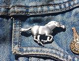 Corriendo caballo peltre Pin de solapa broche libre Reino Unido POST...