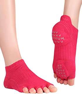 Knitido, Tani, calcetines de dedos antideslizantes, para Yoga, Pilates y Fitness