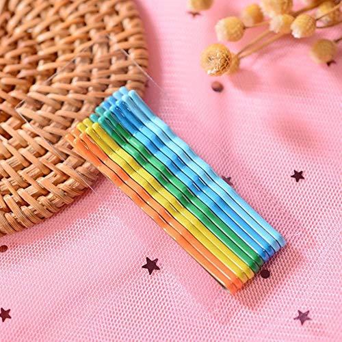 SELLA Épingles à cheveux colorées pour femmes pince à cheveux Lady épingles à cheveux vague invisible Hairgrip Barrette pinces à cheveux accessoires, Color3