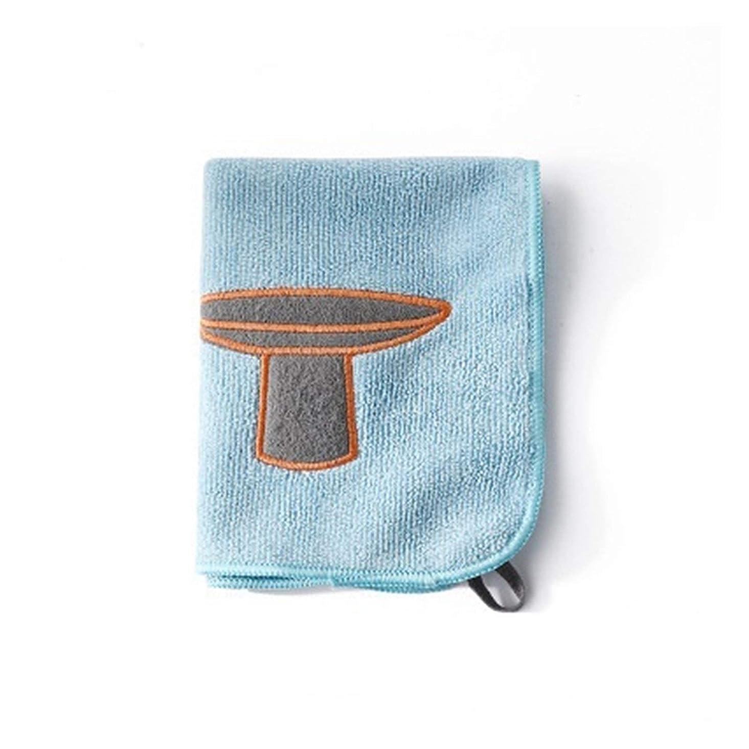 フロント令状有毒6PCSマイクロファイバーキッチンタオル漫画の刺繍ぼろクリーニングクロススーパーは、クリーニングツールを調理する家庭用ふきんを吸収剤 (Color : Sky Blue, Specification : 6pcs)