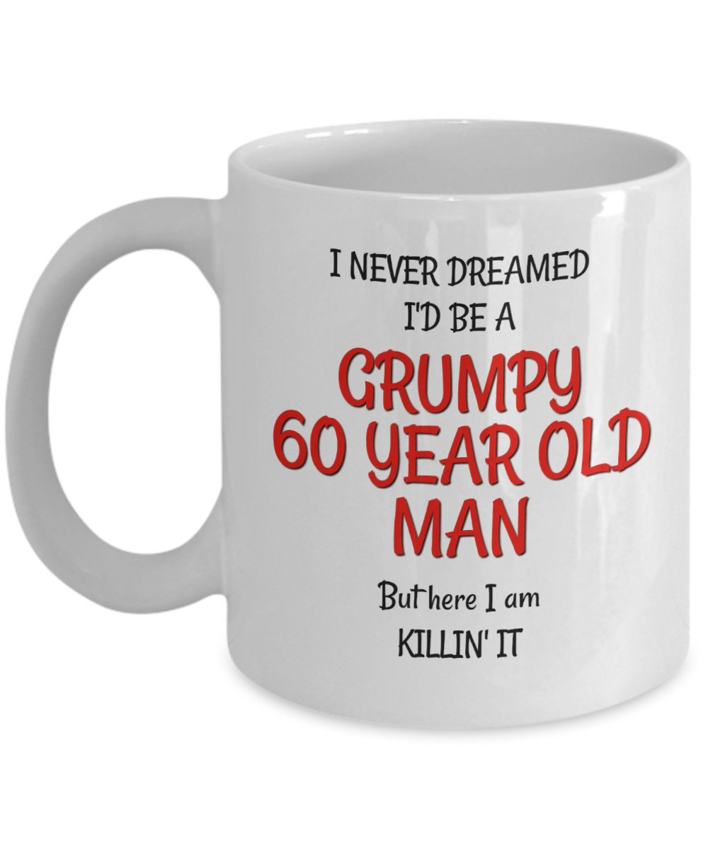 60th Birthday Mug for Men - Funny Gag Gifts for Him - Best Grumpy Old Man  sc 1 st  Amazon.com & 60 Year Old Man Gifts: Amazon.com