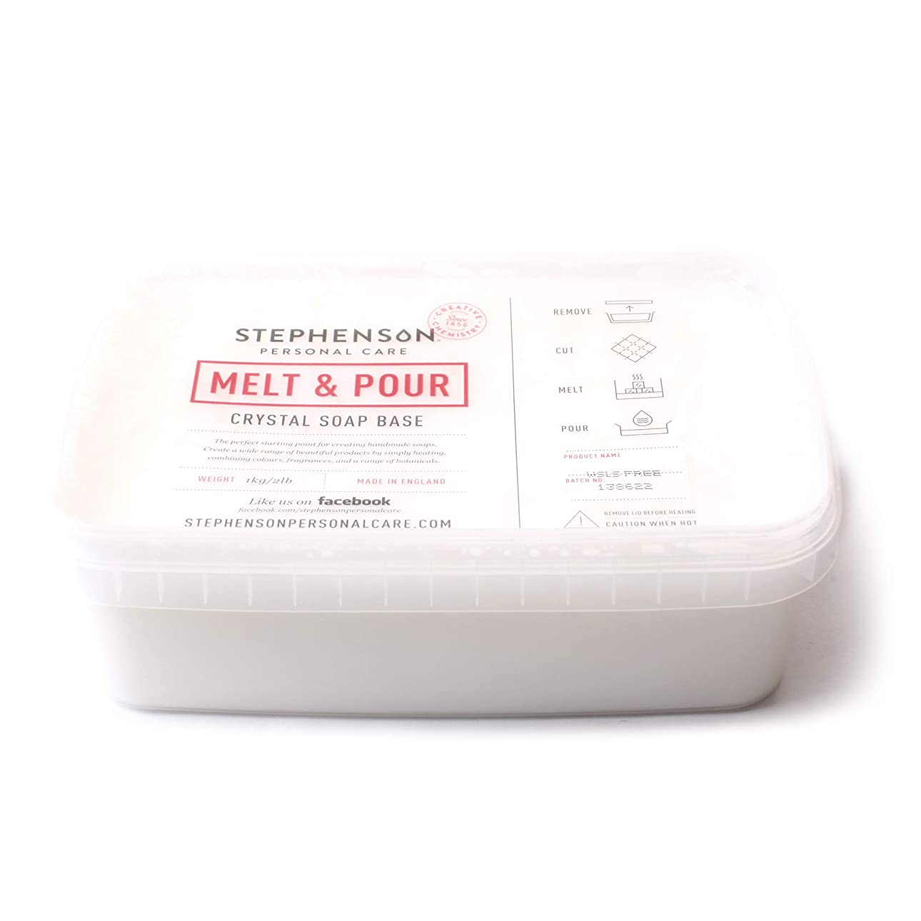 地下未接続ローズMelt and Pour Soap Base White SLS FREE - 10Kg