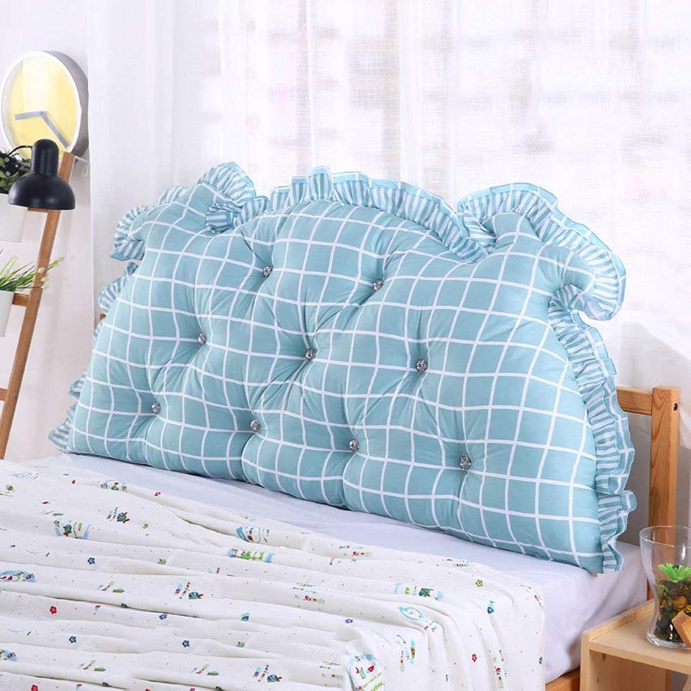 裁定オープニング気楽なNanwu ベッドサイドの読書枕背部クッション、ソファーマットクッション100%綿背もたれ位置決めサポート枕 (Color : B, サイズ : 110x70x15cm(43x28x6inch))