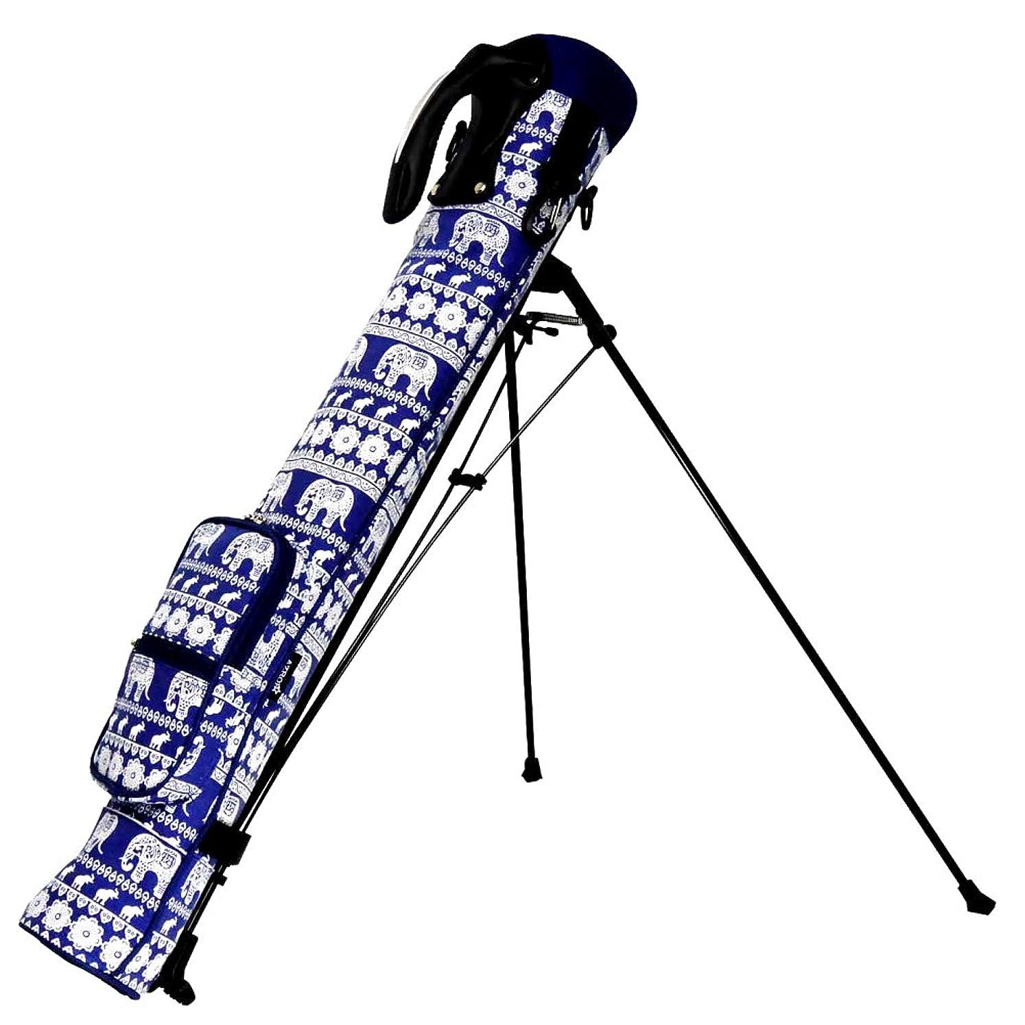 メッシュグリップ大騒ぎAZROF(アズロフ) クラブケース - スタンド式クラブケース 82:エスニックネイビー  16AZ-SSC02   全長:80cm