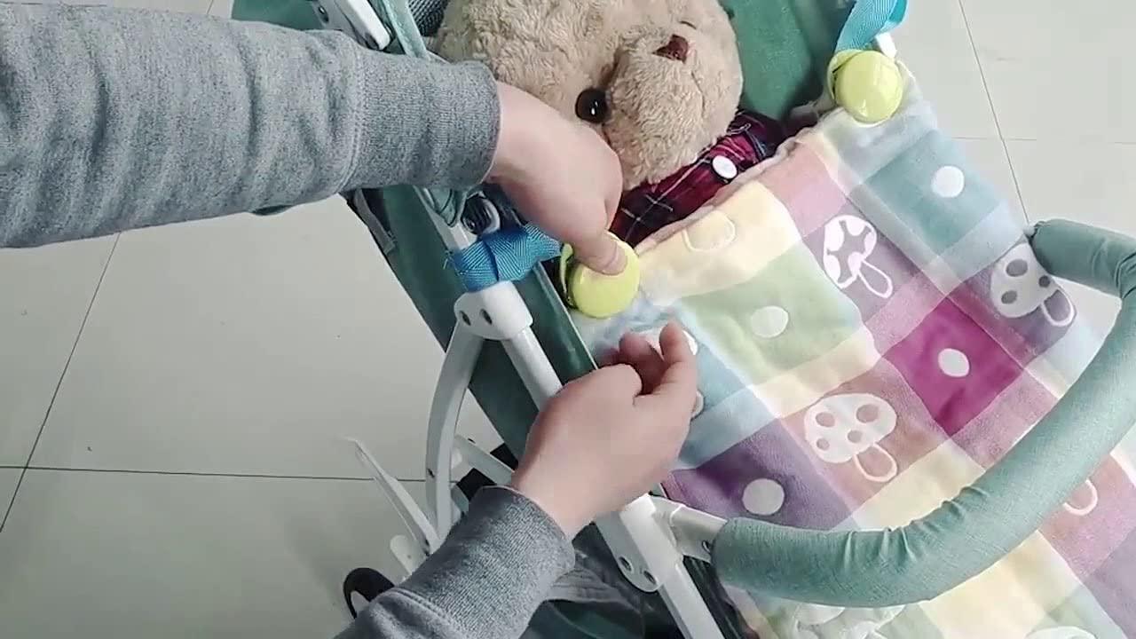 2pcs Baby Stroller Anti Clip Non-Slip Blanket Clip Clip Fasteners (Green)