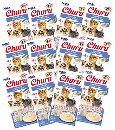 INABA Churu Tuna Recipe Lickable Creamy Purée Cat Treats 48 Tubes