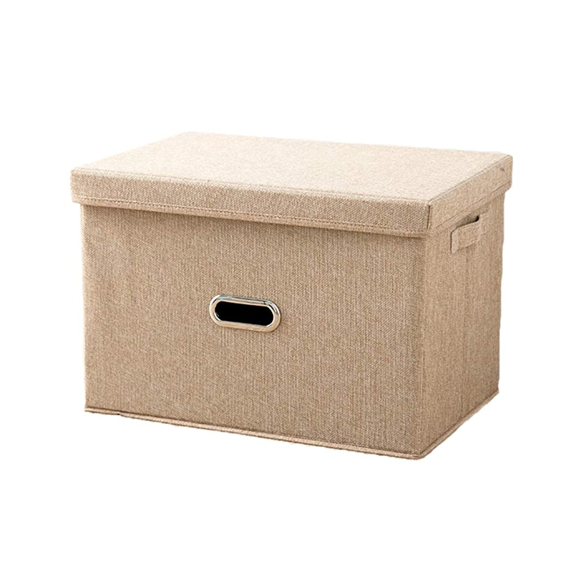 動機バーストアルファベットHappylifehere 収納ボックス 天然素材 ふた付き 大容量 折りたたみ 収納ケース 書類 衣類 玩具 ファイル ンナーボックス 整理用