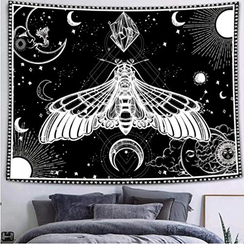 Tapestry Gothic Style Tarot Card Tapestry Psychic Reading Tapestry Bohemian Sun and Evil Eye Wall Tapestry for Dorm
