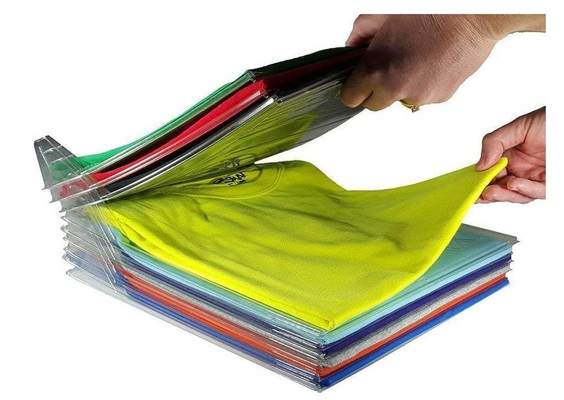 ファブリックリビジョン私たち自身衣類収納用折りたたみボード 、10ピースホーム便利な多機能服フォルダtシャツ大人の服整理折りたたみボード