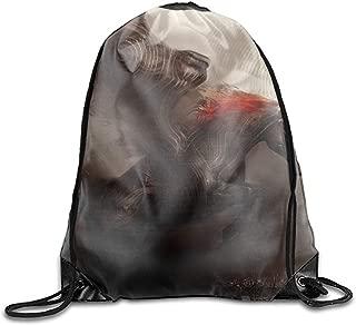 Drawstring Backpack Shoulder Bags Gym Bag Travel Backpack Fantasy Pegasus
