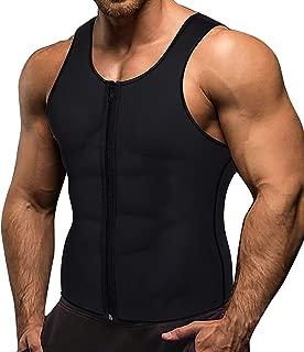 Luckding Men Waist Trainer Vest Weightloss Hot Neoprene Corset Compression Sweat Body Shaper Slimming Sauna Tank Top Workout Shirt