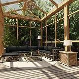 UnfadeMemory Set de Sofás de Jardín con Cojines y Diseño de Tejido,Muebles de Jardín Terraza Balcón o Patio,Ligero y Modular,Ratán Sintético Gris (6 Sofás+Reposapiés+Mesa de Centro)