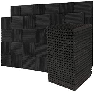 50 Pack Acoustic Panels Soundproof Foam for Walls Sound Absorbing Panels Soundproofing Panels Wedge for Home Studio Ceilin...