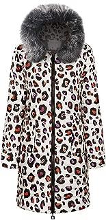 Women's Coat Boho Print Long Down Cotton Hooded Coats Quilted Jacke Downblouse Outwear Outerwear Boyfriend Overcoat