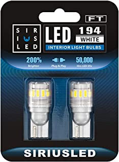SIRIUSLED - FT- 194 912 Side Marker LED Light Car Interior, Map, Dome, Trunk, Backup Bulb High Power 3030 + 4014 SMD Super...
