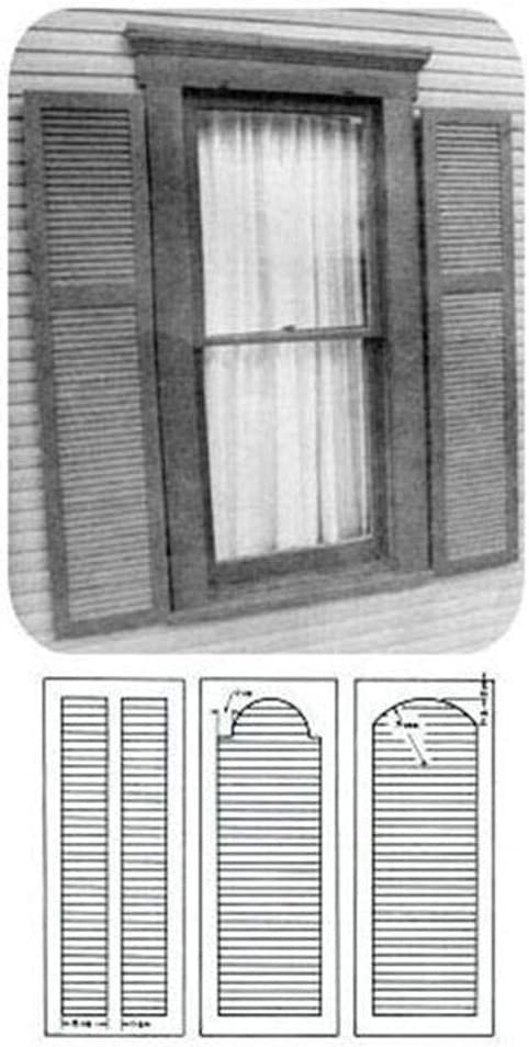 Woodworking Project Paper Plan to - Shutter 151 Plantation Build Regular store Max 63% OFF